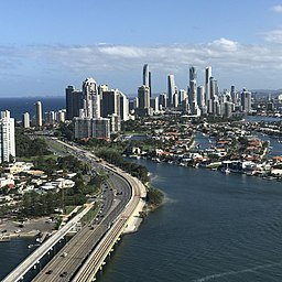 Skylines of Surfers Paradise, Queensland in January 2017